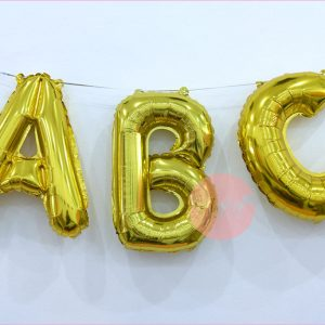 16 Inches Foil Letter Balloons (Gold)