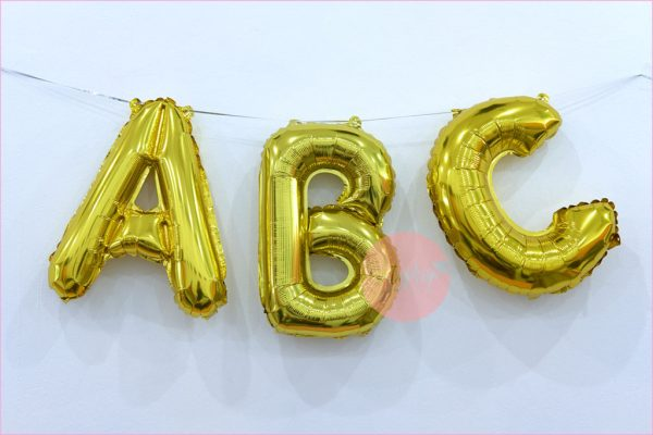 16 Inches Foil Letter Balloons GOLD