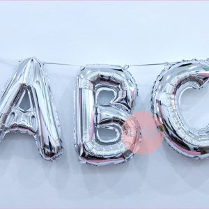 16 Inches Foil Number Balloons (Silver)