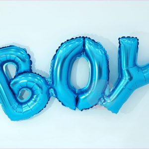 Boy Typography Balloon