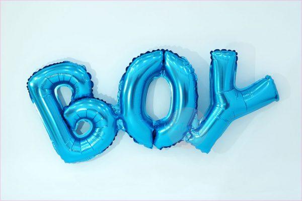 Boy Typography Balloon