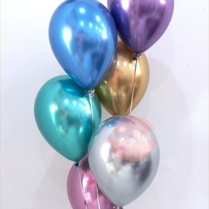 Chrome Helium Balloons Set