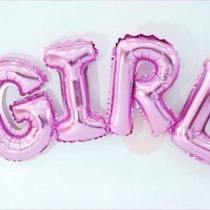 Girl Typography Balloon