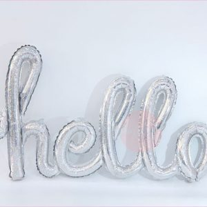 Hello Typography Foil Balloon
