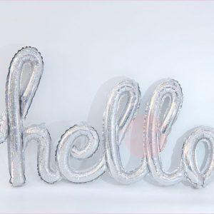 Hello Typography Foil Balloon