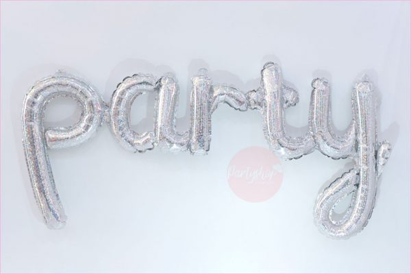 Party Typography Foil Balloon